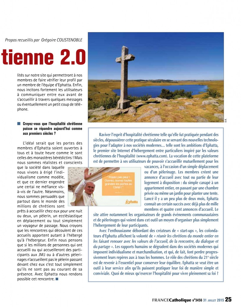 France Catholique Hospitalité 2
