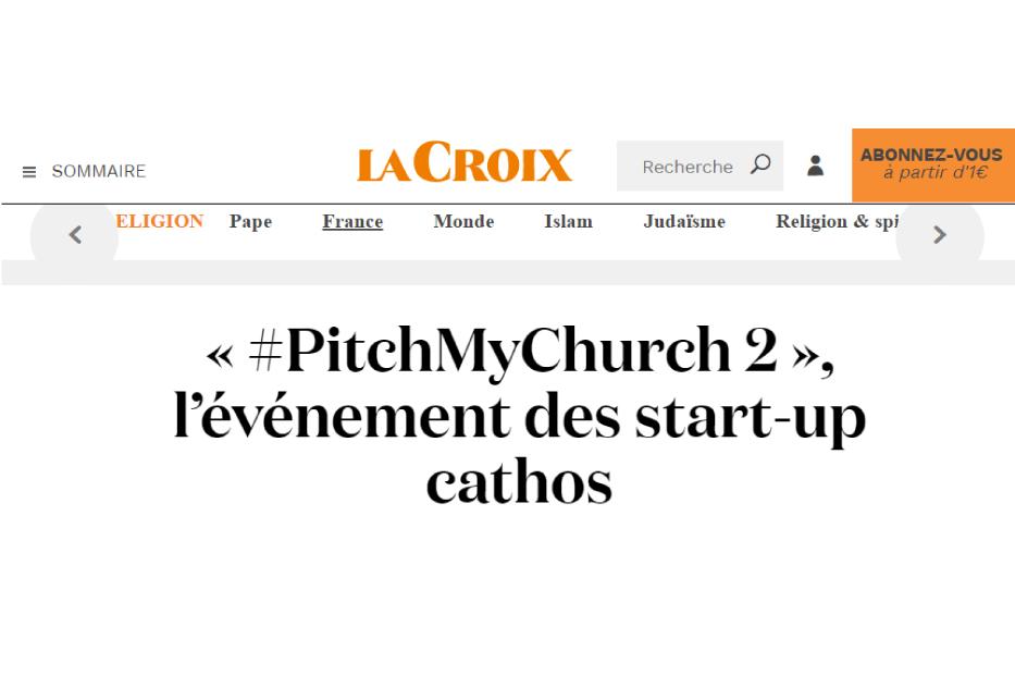 LA CROIX : PitchMyChurch 2, l'événement des start-up cathos